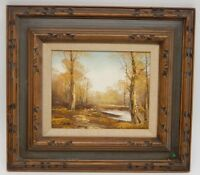 Charles Holland , mid century Original Signed Oil Painting Multi Layered Frame