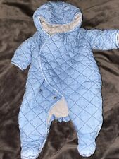 Pre Owned Light Blue wash Gap Blue Snowsuit size 0-3 months