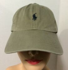 Polo Ralph Lauren Tan/Beige Khaki Leather Strapback Baseball Cap