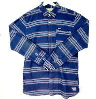 Scotch & Soda Men's Size XL Blue Striped Long Sleeve Button Up Collared Shirt