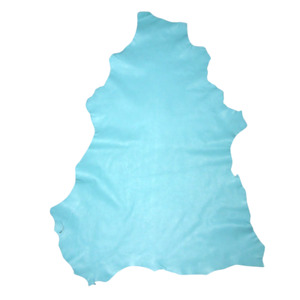 Thin Soft Turquoise Blue Sheepskin Leather Hide Dollmaking Beading - Seconds
