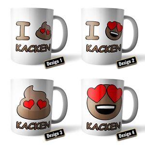 Coffee Mug-Cup 'I Love Poop' / kackhaufen   Smiley Emoticon Gift