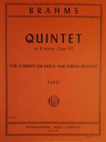 Brahms Quintet in B minor. Op 115 (Clarinet or Viola & String Quartet. (IMC1071)