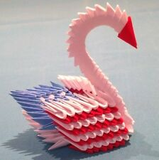 Hand-made 3D Patriotic Origami Swan - Great Gift for July 4th Party!!!