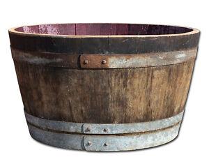 Demi-tonneau en bois,Pot à fleurs, Bac à fleurs,mini-étang -rustique
