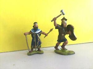 Engineer Basevich. Ancient Hittite King & Hittite warrior. 60mm painted plastic