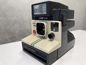 Polaroid 1000 Supercolor Land Camera tasto rosso con Flash