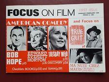 Focus on Film No.1 1970 Magazine, American Comedy - Bob Hope #B1664