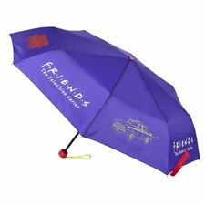 Friends Logo and Icons Purple Compact Umbrella