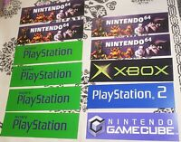 Game Console promo signs Nintendo, Playstation, XBOX store display signs, gift