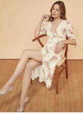 Reformation Cream Floral Print Dress Bnwt  Uk 10
