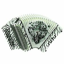 Hohner Button Accordion Corona II Los Tigres, FBbEb, White with Bag & Straps