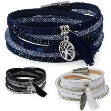 Markenlose Strasssteine Modeschmuck-Armbänder für Damen