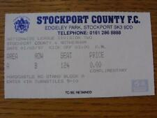 01/03/1997 Ticket: Stockport County v Rotherham United. Item In very good condit