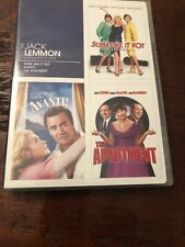 The Jack Lemmon Collection (Dvd, 2010) Some Like it Hot Avanti The Apartment