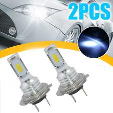 1 Pair White H7 LED Headlights Bulbs Conversion Kit High/Low Beam 1000LM 80W