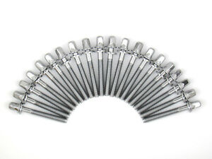 """20 Drum Tension Rods 1 5/8"""" (42mm) Chrome with Washers Diameter 7/32"""" Drum Part"""