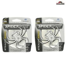 (2) Spiderwire Translucent Braided Fishing Line 65lb 200yds ~ New