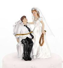 Lo sposo legato a sedia Comico CAKE TOPPER-sposa e sposo wedding cake topper
