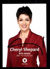 Cheryl Shepard Rote Rosen Autogrammkarte Original Signiert # BC 123415