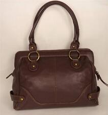 TOMMY AND KATE BROWN LEATHER SHOULDER BAG HANDBAG TOTE