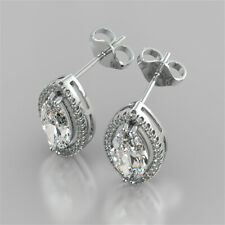 2.34 Ct Marquise Solitaire Diamond Earring Stud 14K Solid White Gold Studs 013
