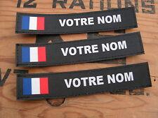 Bande patronymique .: NOIRE + FRANCE :. LoT de 3 patro PERSONNALISABLE