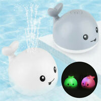 Kids Electric Induction Water Spray Balls Whale Bath Sprinkler Toys Music Light