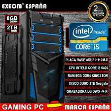 Ordenador Gaming Pc Intel Core i5 6400 6ª GEN 8GB DDR4 2TB HDMI De Sobremesa