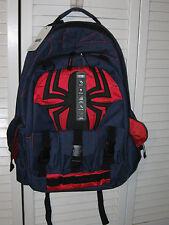 Marvel Spider-Man Built-Up Backpack Buckle Pockets Tech Sleeve NWT Spiderman