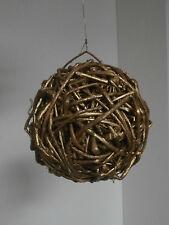 ** Palla vimini Natale decorazione albero babbo festone Christmas 15 cm **