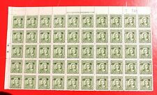 1943 china stamp overprinted with [north china] $0.04 block x50 mint
