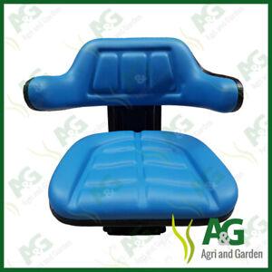 Universal Suspension Seat Blue suits Ford Dumper Digger Forklift, Great Quality.