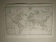 The World Religions, 1784 HAND COLORED MAP DE VAUGONDY