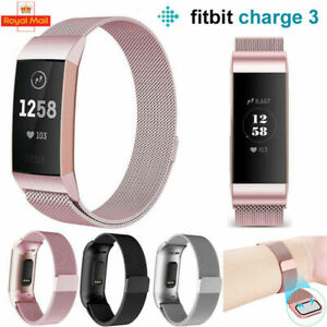 Replacement Milanese Stainless Steel Magnetic Strap Band for Fitbit Charge 3 4
