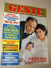 GENTE=1980/8=CLAUDIO VILLA=ANTONIO BRAMBILLA=CESARE MUSATTI=MARIO FOGLIETTI=