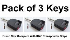 FORD COMPATIBLE RED TIBBIE KEYS with ID4C Glass Chip - PACK OF 3 KEYS