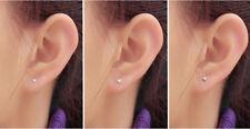 Mini 925 Sterling Silber 2mm Sterne Herz Kugeln Ohrstecker Ohrringe Unisex