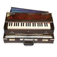 Indian Calcutta Portable Harmonium Standard 3 1/2 Octave Double 2 Reed Set