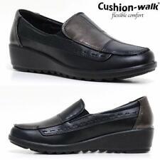 Ladies New Low Wedge Slip On Comfortable Walking Nurse Womens Cushioned Shoes
