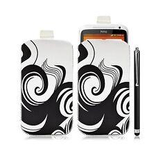 Housse coque étui pochette pour HTC One X avec motif HF04 + Stylet luxe