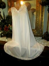 Vintage Shadowline Nylon Nightgown Gown Made in USA Size S Peachy Pink Lingerie
