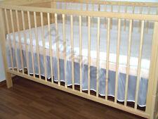 Falbel, Chiffonfalbel, Baby Bett Falbel für Bett 70x140, Bettlaken mit Falbel