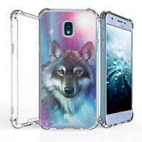 For Galaxy J7(2018)J7 Star/Refine Bumper Clear Shockproof Case Husky Smile