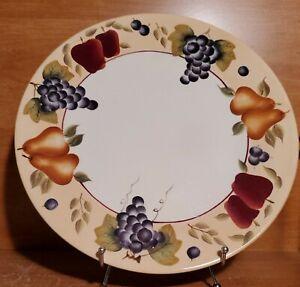 "Home Interiors SONOMA VILLA 13"" Chop plate / Round platter, Fruit, Excellent"