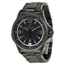 Victorinox Men's 241665 Swiss Army Night Vision Dark Grey Dial Black Ice PVD Ste