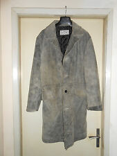 Coat Cappotto In Pelle Scmosciata/Leather Hand Made Tg.52 Made In Italy