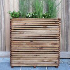 Fioriera in Legno 79x20 Altezza 78 cm SOLID Balcone Terrazzo Divisorio Giardino