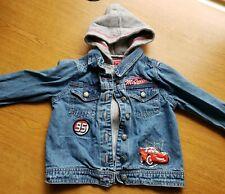 Disney Pixar Cars Hooded Boys Jeans Jacket 3T