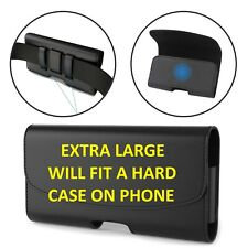 XL Leather Case Belt Clip  Holster Pouch For  iPhone XS iPhone XS Max iPhone XR